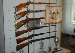 Guns and trophies of the shooters club of Karlovy Vary