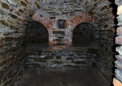The assay furnace in the basement
