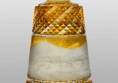 Carafe with engraved picture of Karlovy Vary, glass, 1823