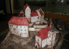 The model of the Loket castle, situation around 1500